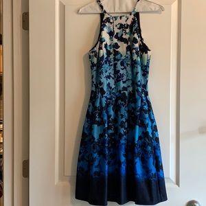 Vince Camuto Blue Flower Dress